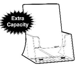 A4 Extra Capacity Brochure Holder, Freestanding