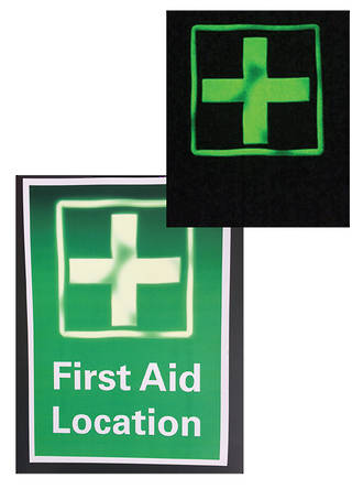 Glow In The Dark Safety Signs, Stickers and Fridge Magnets