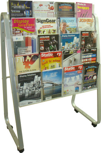 A4 Easel Floor Stand Brochure Holder. 20 x A4, 5 rows, 4 wide