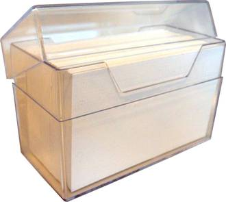 Business Card Storage Box with lid Large