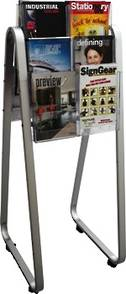 A4 Easel Floor Stand Brochure Holder Double-sided. 12 x A4, 3 rows, 2 wide